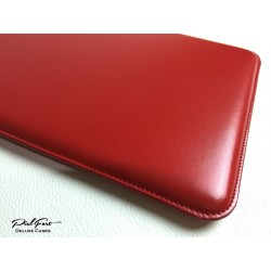 Funda de cuero rojo para iPhone & iPad