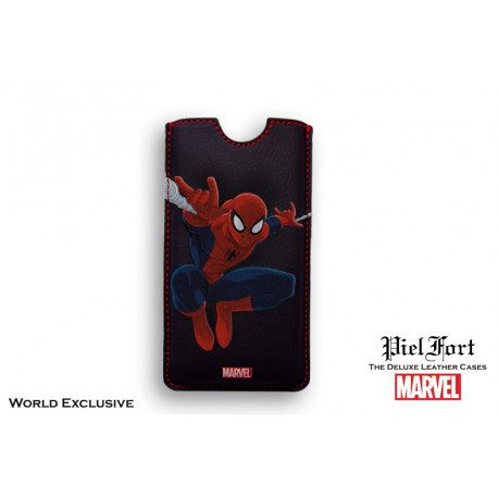 Funda iPhone basica en Piel MARVEL Spider-Man Heroes