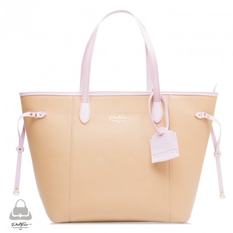 Bolso Madison Ave. PielFort Shopping Bag Beige / Rosa pastel