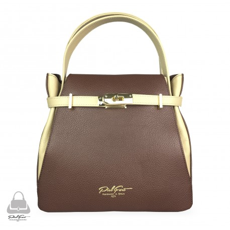 Bolso PielFort Tiffany Chocolate / Beige