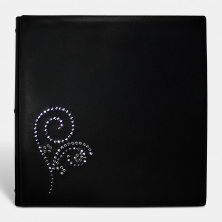 Álbum en Piel The Crystal Álbum, Made With Swarovski Elements (Negro)